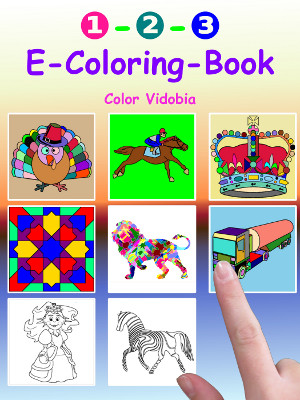 First - E-Coloring-Book Cover